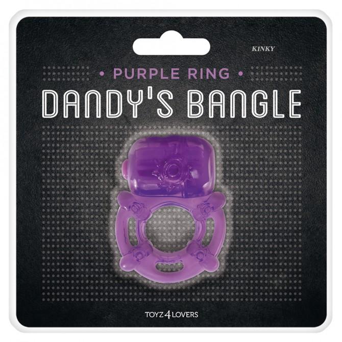 DANDY'S BANGLE KINKY VIBRATING COCKRING PURPLE