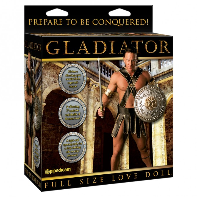 GLADIATOR LOVE DOLL WITH VIBRATION