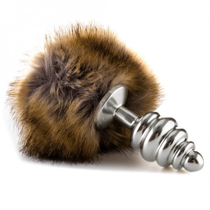 OUCH! RABBIT TAIL BUTTPLUG SILVER