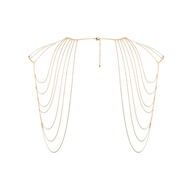 THE MAGNIFIQUE COLLECTION SHOULDER AND BACK METALLIC COLLAR BIJOUX INDISCRETS GOLD