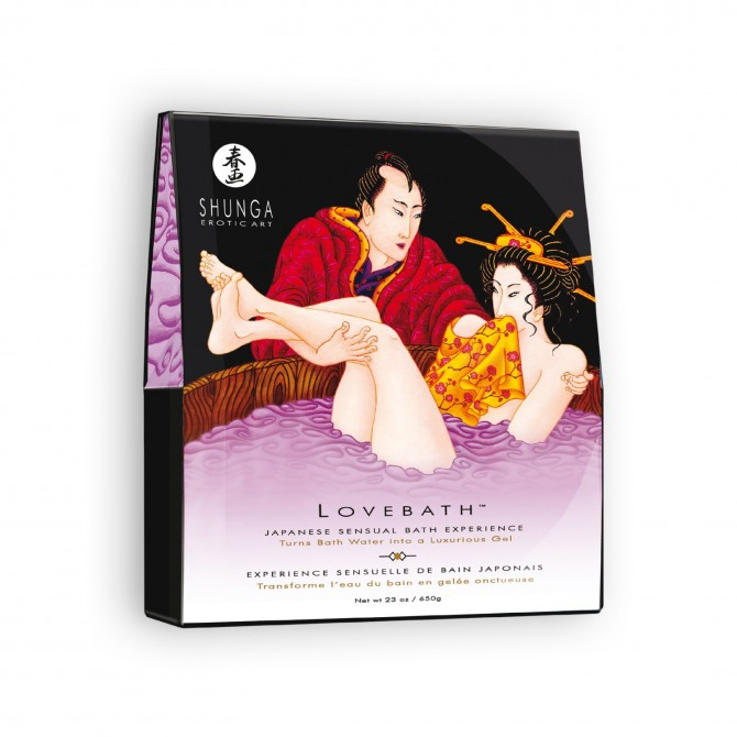 SHUNGA BATH SALTS LOVE BATH SENSUAL LOTUS 650GR