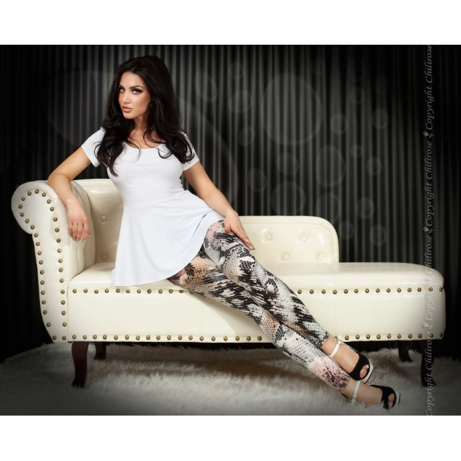 LEGGINGS CR-3457 ROSA E PRETAS