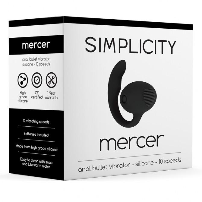 SIMPLICITY MERCER ANAL VIBRATING BULLET BLACK