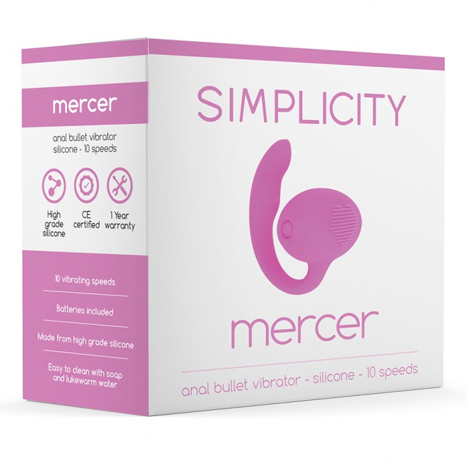 SIMPLICITY MERCER ANAL VIBRATING BULLET PINK