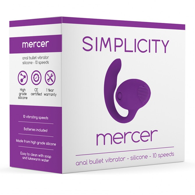SIMPLICITY MERCER ANAL VIBRATING BULLET PURPLE