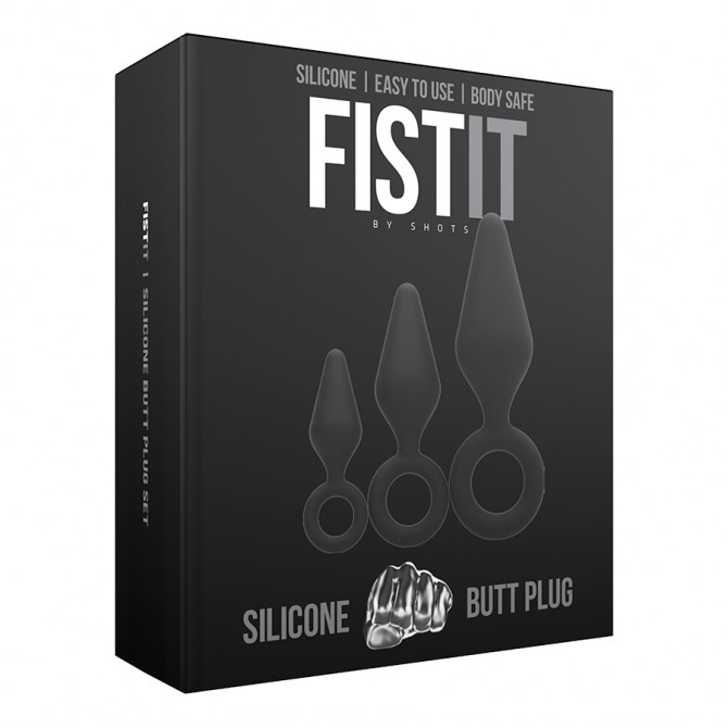 FIST IT 3 BUTT PLUGS KIT BLACK