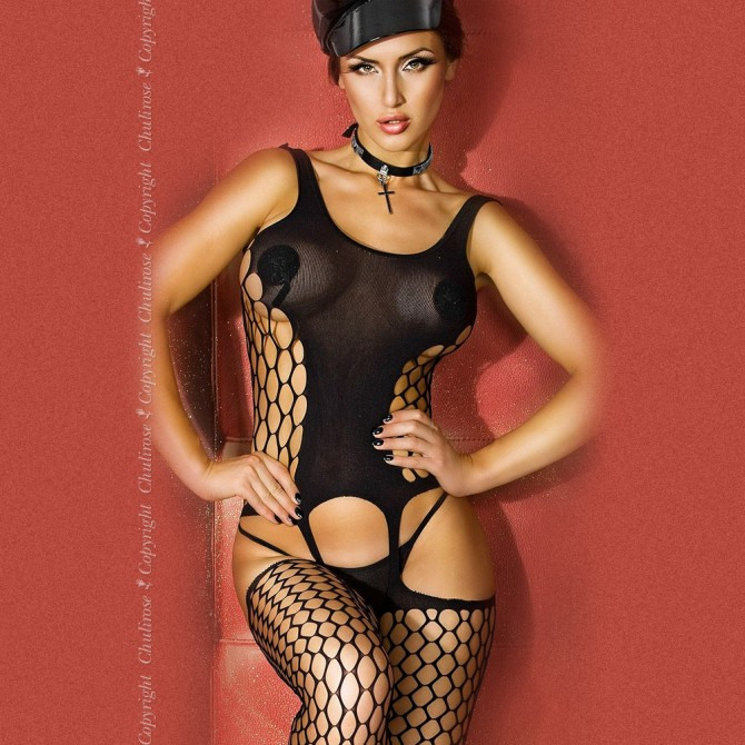 BODYSTOCKING CR-3282 BLACK
