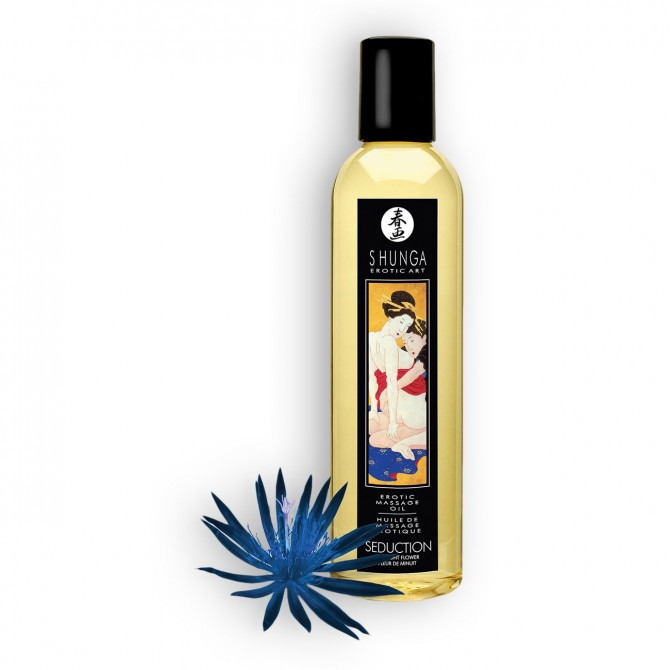 ÓLEO DE MASSAGEM SHUNGA SEDUCTION MIDNIGHT FLOWER 250ML