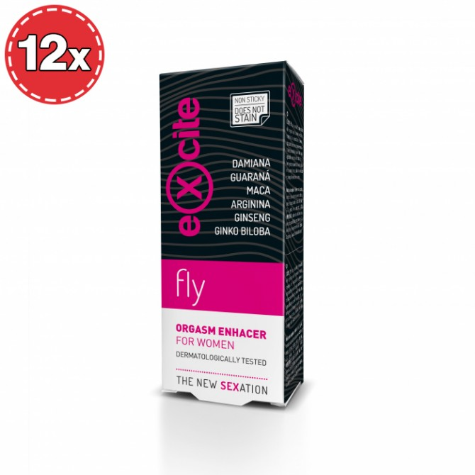 PACK COM 12 POTENCIADORES DE ORGASMO EXCITE WOMAN FLY 15ML
