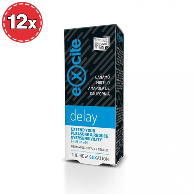 PACK WITH 12 MAN DELAY EXCITE GEL 15ML