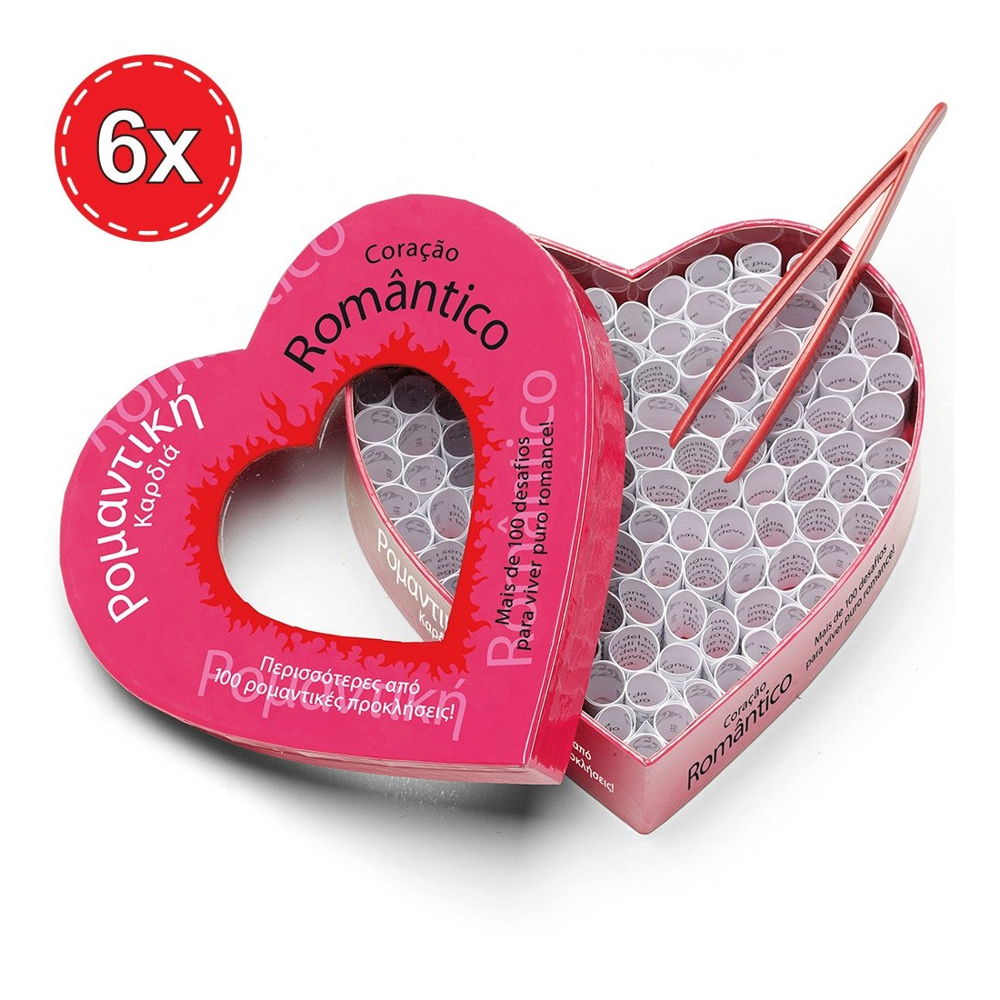PACK WITH 6 ROMANTIC HEART GAMES IN PORTUGUESE AND GREEK