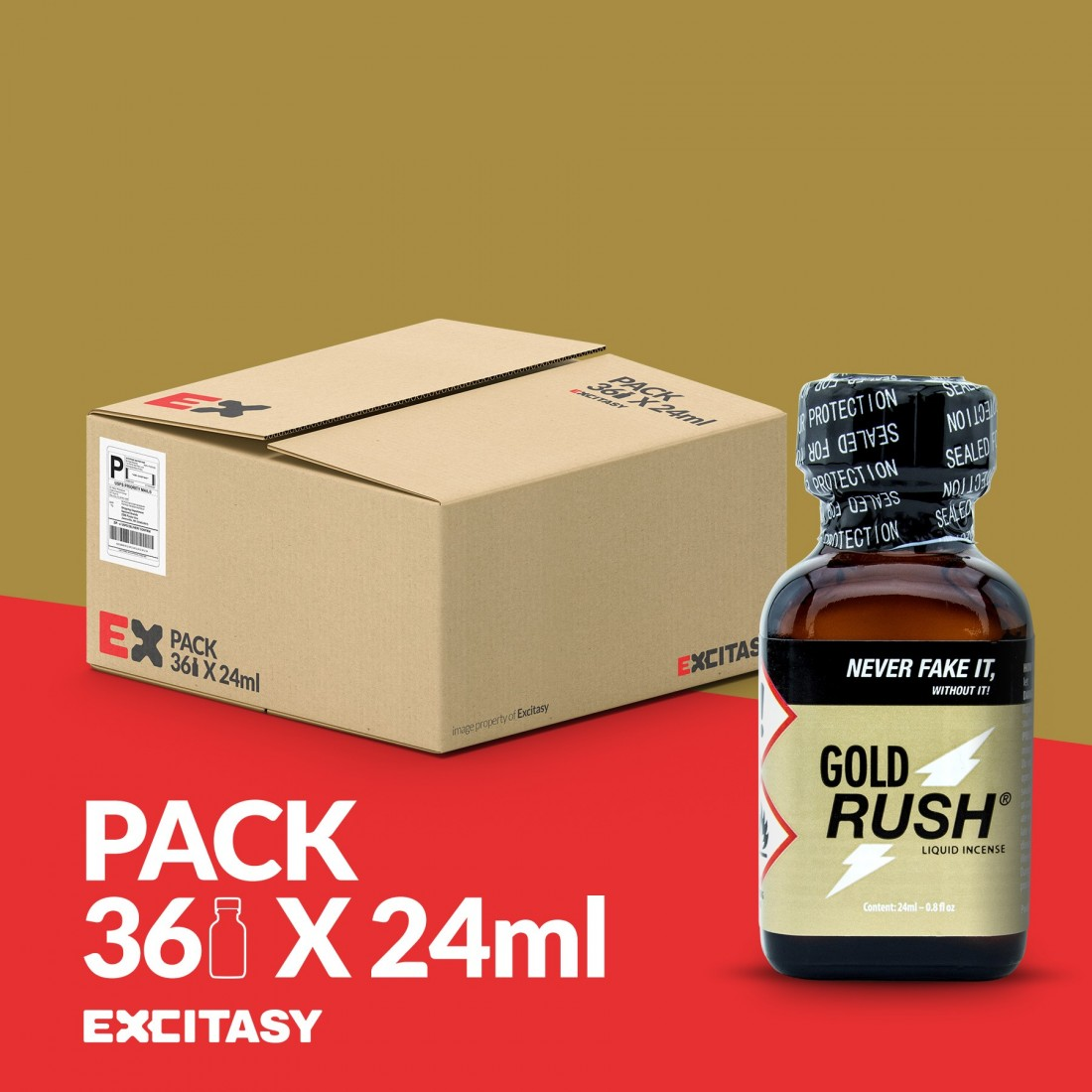 PACK WITH 36 GOLD RUSH 24ML