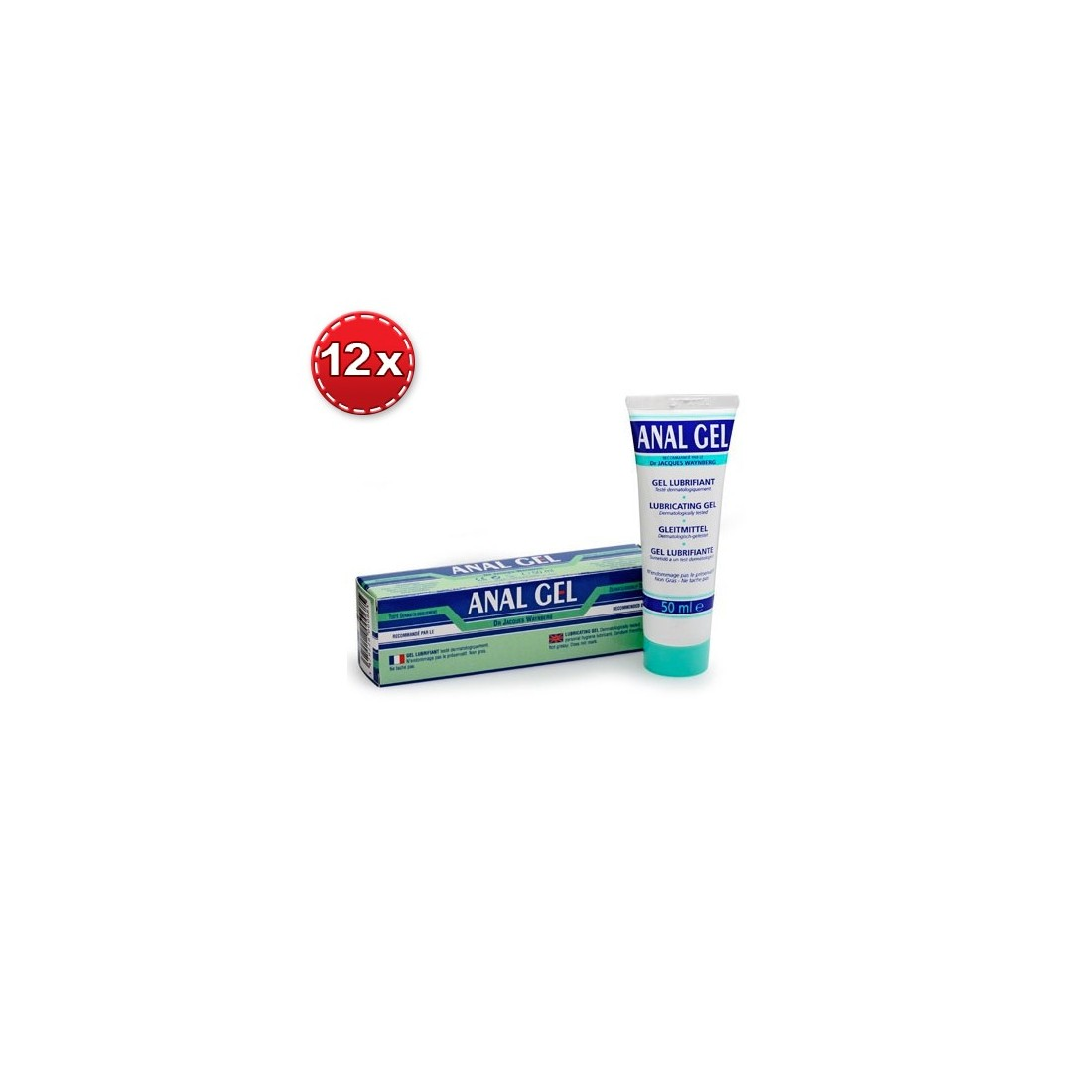 PACK WITH 12 ANAL GEL LUBRICANT 50ML