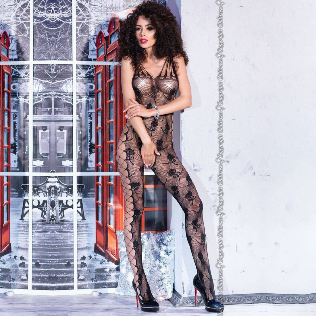 BODYSTOCKING CR-4261 BLACK