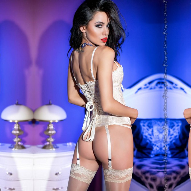 CORSET AND THONG CR-4320 GOLD
