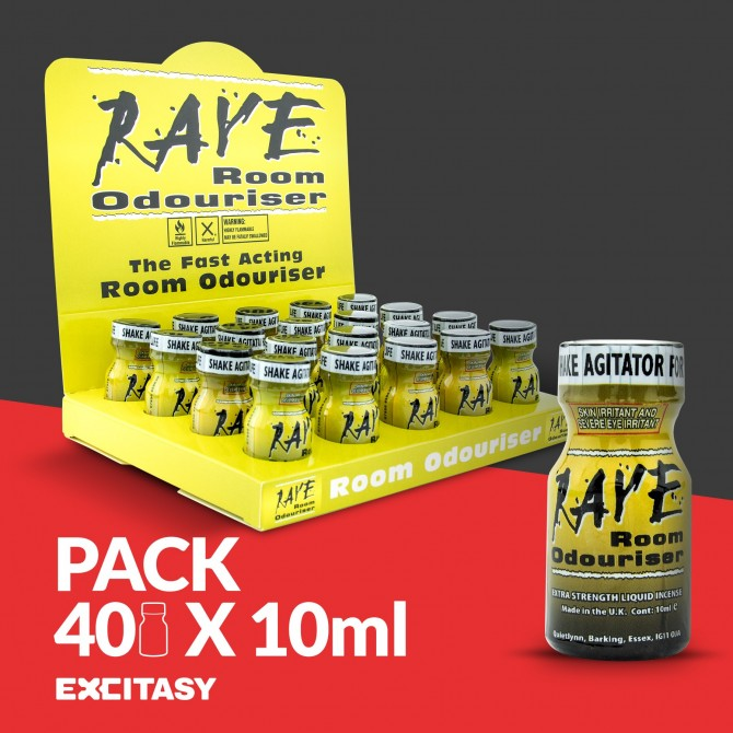 PACK WITH 40 RAVE 10ML