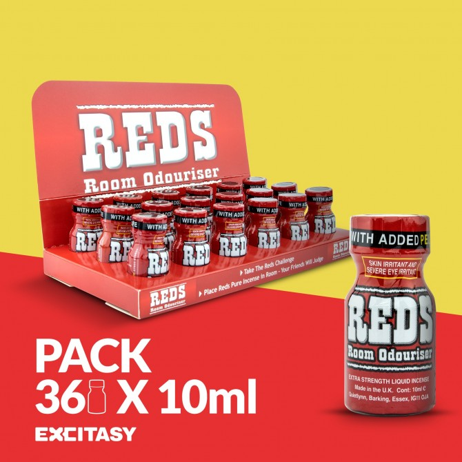 PACK WITH 36 REDS 10ML