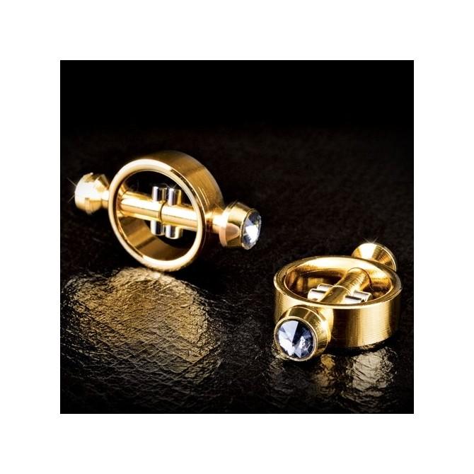 PINÇAS MAGNÉTICAS PARA OS MAMILOS FETISH FANTASY GOLD MAGNETIC CLAMPS