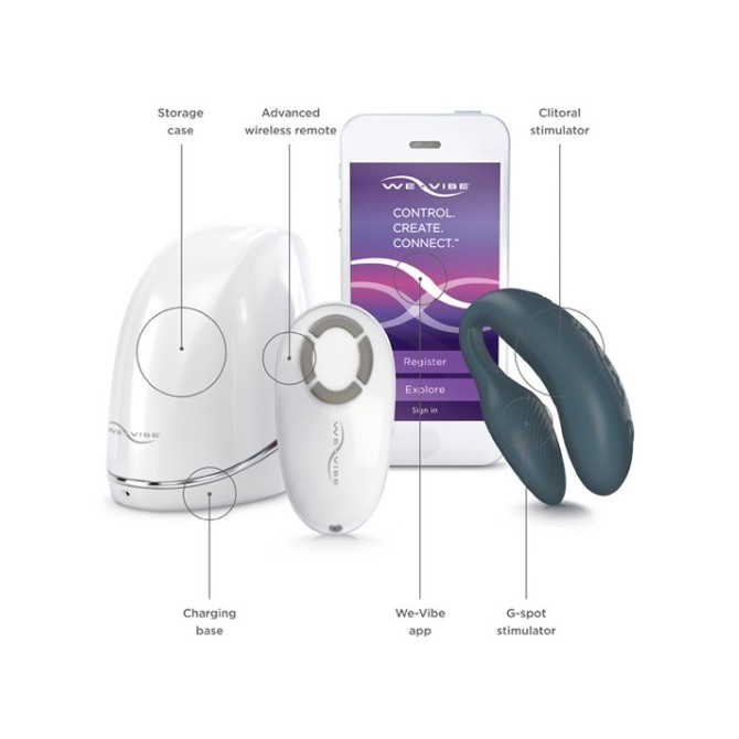 WE-VIBE 4 PLUS SLATE WITH USB CHARGER