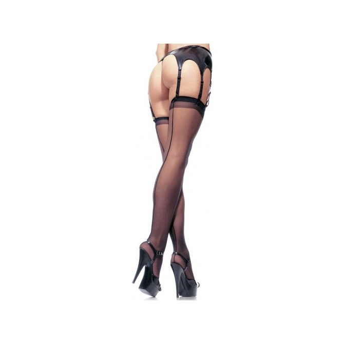 PLUS SIZE THIGH HIGHS WITH BACKSEAM
