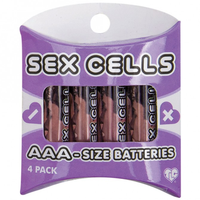 4 AAA ALKALINE SEX CELLS BATTERIES
