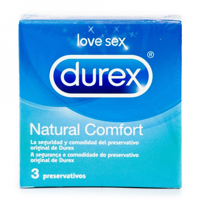 NATURAL COMFORT DUREX CONDOMS 3 UNITS